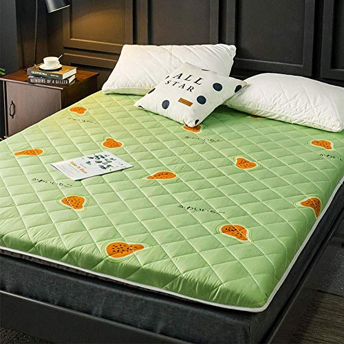 Soft Folding Mattress, Japanese Thicken Tatami Floor Mat Portable Breathable Non-slip Sleeping Pad For Dormitory Living Room (Color : D, Size : Twin:90x200cm(35x79inch))