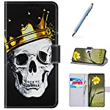 URFEDA Compatibile con Samsung Galaxy J4 Plus 2018 Custodia Pelle Cover Flip Case Colorato...