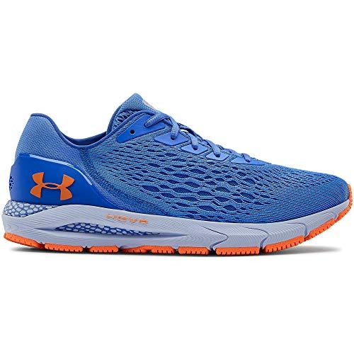 Under Armour UA HOVR Sonic 3, Baskets Respirantes avec Sensor Intégré, Chaussures de Sport pour une Foulée Légère et Amortie Homme, Bleu (Water/Spackle Blue/Orange Spark), 49.5 EU
