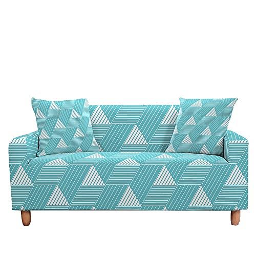WXQY Funda de sofá elástica con patrón de verificación Moderna Funda de sofá de protección para Silla de Esquina en Forma de L Funda de sofá A8 1 Plaza