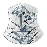 Linger In Flor Imagen de Rayos X de la Flor Radiografía Floral UV Visión Diferente de la Madre Tierra Imprimir Teal Cuello Blanco Calentador de Cuello Polaina