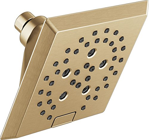 DELTA FAUCET 52664-CZ H2Okinetic - Alcachofa de ducha angular, diseño moderno, color bronce