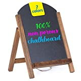 Cedar Markers 15'x10' Arc Shaped Chalkboard. Mini Chalkboard Signs with Chain. Erase Slate Chalk Board Perfect for Chalk Markers and Vintage Wedding and Kitchen Decoration (15'x10' Arc, Rustic Brown)