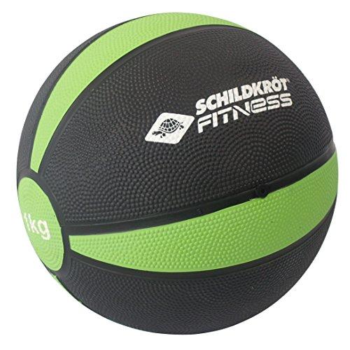 Schildkröt Medizinball 1,0 kg, Schwarz-Grün, in Sichtbox, 960061