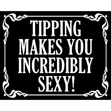 Black Tips are Hugs Sticker Funny Tipping jar Accept Cafe bar Bartender Awkward