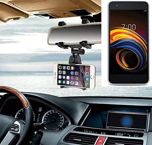 K-S-Trade Für LG Electronics Tribute Empire Smartphone Halterung Rückspiegel Halterung Schwarz Auto Halterung Für LG Electronics Tribute Empire Spiegel KFZ Halter