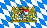Etaia 7x10 cm ( mittlere Grösse ) - Auto Aufkleber Fahne / Flagge von Bayern Rauten Löwe Sticker Motorrad handy Laptop