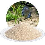Schicker Mineral Aquariumsand Aquariumkies beige im 10 kg Sack, kantengerundet, gewaschen, ungefärbt, (0,4-0,8 mm)