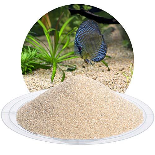 Schicker Mineral Aquariumsand Aquariumkies beige im 10 kg Sack, kantengerundet, gewaschen, ungefärbt (0,4-0,8 mm)