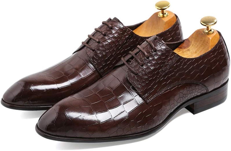 WEATly The First Layer Layer Layer Of läder Mans skor Dresses With Pointed Mans skor läder Färg (Coffee, Storlek  38)  snabb frakt till dig