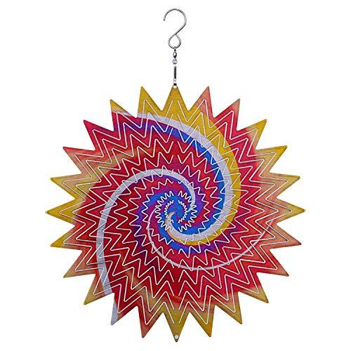 cherrypop Outdoor Wind Spinner Metal 3D Hanging Garden Decoration 12Inch with Hanging Hook for Patio