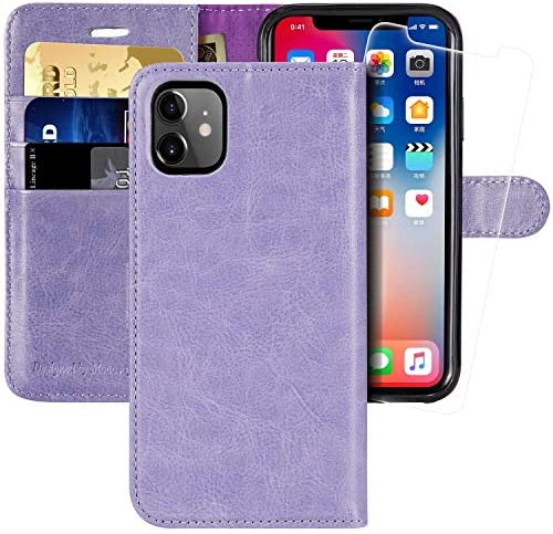 iPhone 11 Wallet Case 6 1 inch MONASAY Glass Screen Protector Included RFID Blocking Flip Folio product image