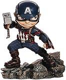 Iron Studios Figura Oficial de Marvel Capitán América Endgame Mini Co, Cloruro de polivinilo, 5.9 in (H) x 5.5 in (W) x 3.9 in (L)