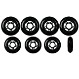 Player's Choice Inline Skate Wheels Hilo Set 76mm / 80mm 82A Black Outdoor Hockey