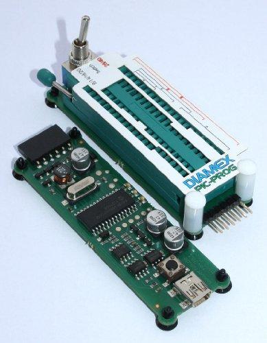Diamex PicKit Set ICSP PIC Programmer + Schwenkhebelmodul für DIL-Controller