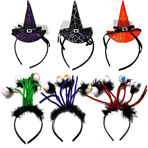 Auflosung Diadema De Halloween, Diadema De Sombrero De Bruja, Sombrero De Fiesta De Disfraces De Halloween, Accesorios De Disfraces Adecuados para La Fiesta De Disfraces De Halloween