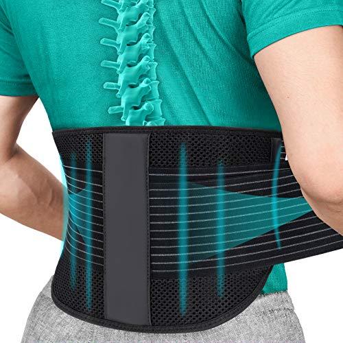 SYXUPAP Faja Lumbar para Espalda, Cinturón Lumbar Soporte Ayuda a Aliviar Dolor y Prevenir Daños, Ciática, Estenosis Espinal, Escoliosis o Hernia de Disco etc ⭐