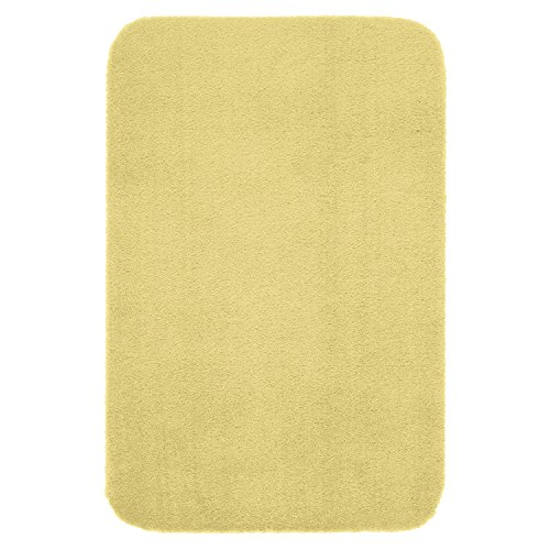 """Maples Rugs Bathroom Rugs - Cloud Bath 30"""" x 46"""" Washable Non Slip Bath Mat [Made in USA] for Kitchen, Shower, and Bathroom, Lemon Ice"""