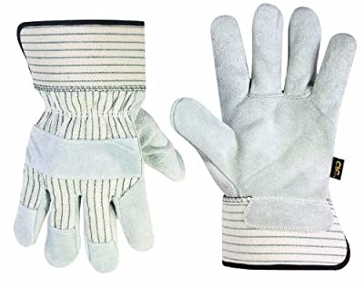 CLC Custom Leathercraft Work Gloves with Economy Split Cowhide Palm and Safety Cuff