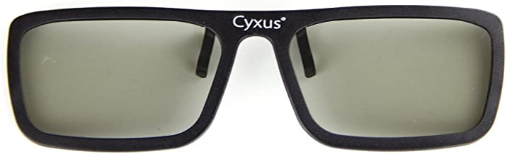 Cyxus 3D Clip On Glasses [Lightweight Clear] For Movies/Cinema/TV Active Eyewear