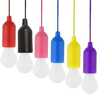 6 Piezas Lámpara de camping LED, Lámpara LED portátil para senderismo Escritorio de pesca Tienda, luz blanca [Clase de eficiencia energética A]