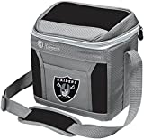Coleman NFL Soft-Sided Insulated Cooler and Lunch Box Bag, 9-Can Capacity, Oakland Raiders