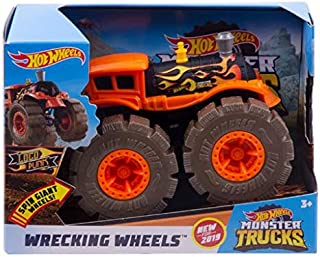 Hot Wheels Monster Trucks 1: 43 Wrecking Wheels Assortment - Color and Design May Vary
