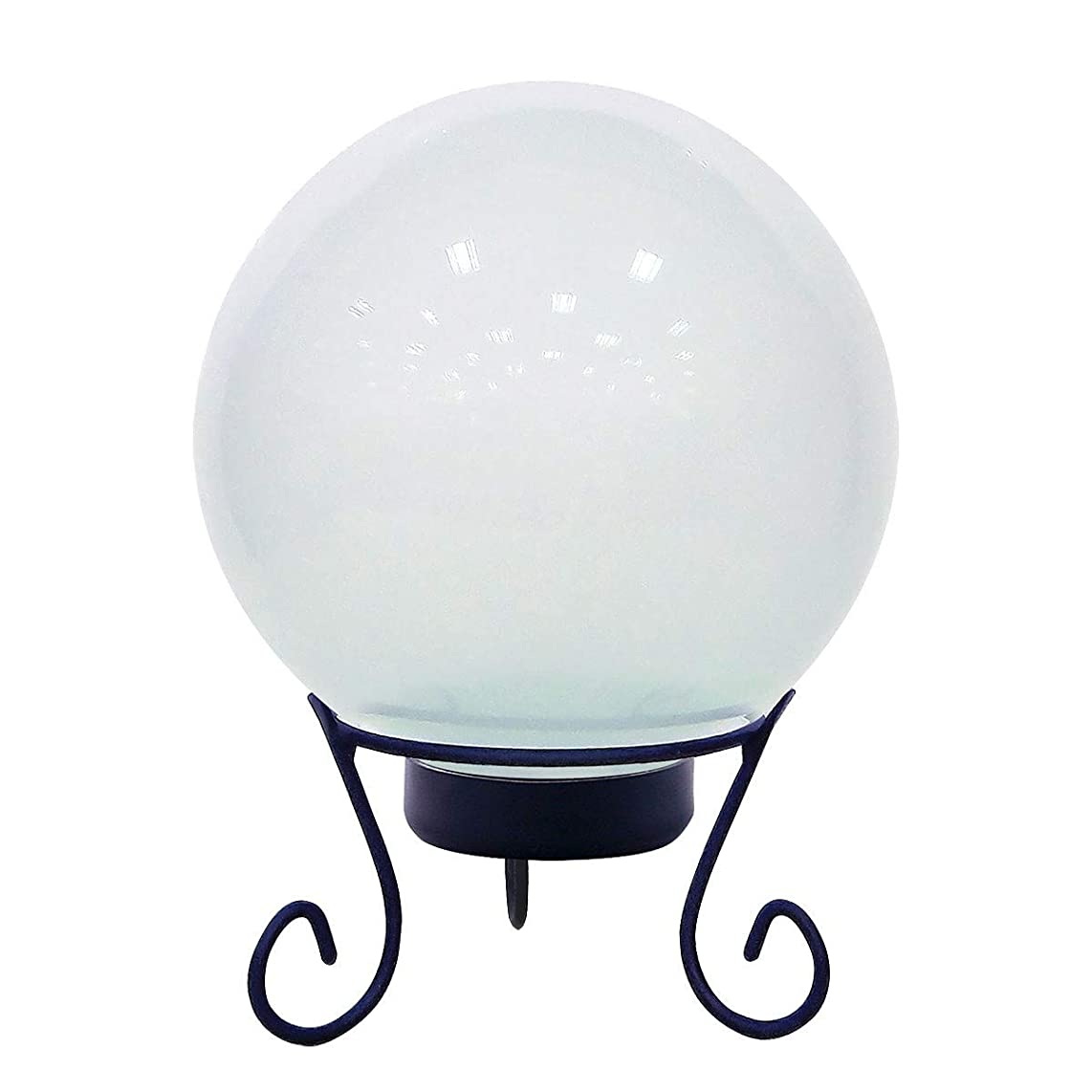 海洋脅迫シャツAlpine Corporation HGY312ACC-TM Gazing Globe with LED Lights, 10 Inch Tall, White 141[並行輸入]