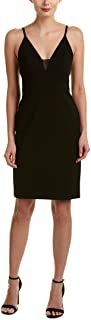 Alice + Olivia Jean Lace-Inset Fitted Sleeveless Dress, Black, Size 2
