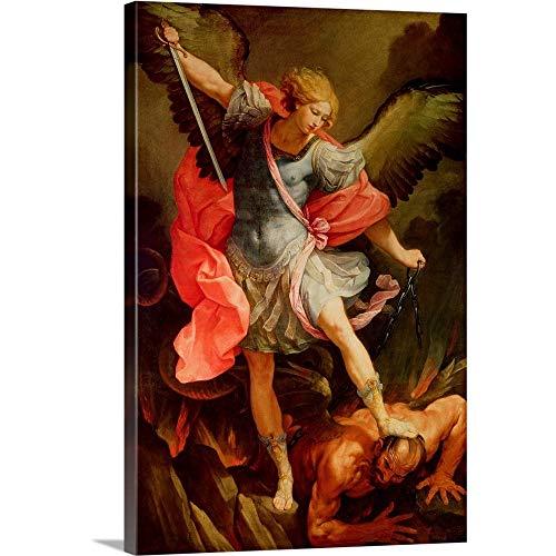 The Archangel Michael Defeating Satan Canvas Wall Art Print, 32