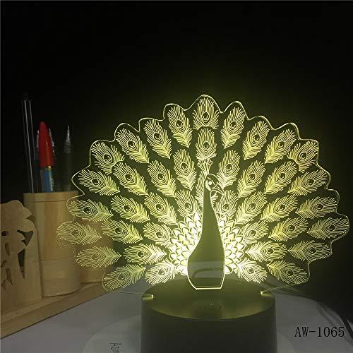 3D Cat LED luz Nocturna USB Cargando Forma Animal lámpara de decoración...