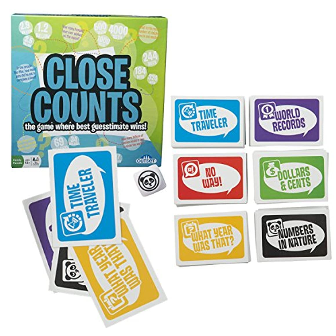 Close Counts Guessing Game - Features 6 Categories with 72 Cards for Each - You Don't Have to be Right, Just Closer than Everyone Else - Ages 12+