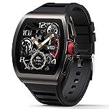 Watches Smartwatch, Schlafüberwachung Fitness Tracker, Ganztägig Heärt Räte, Schrittzähler, Nachrichtenerinnerungen, IP68 Wasserdichte Herren Damenuhren, für Android und IOS Uhren ( Color : Black )