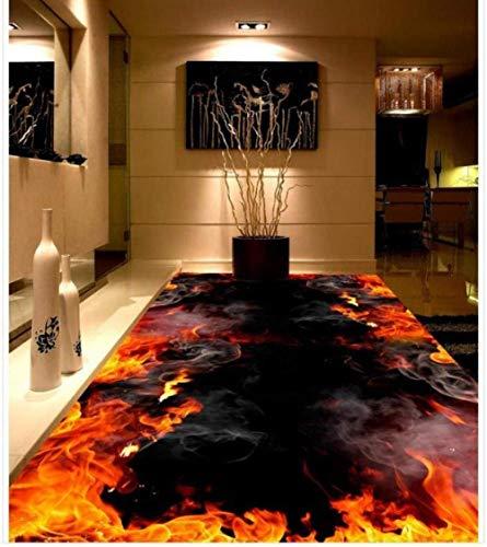 Benutzerdefinierte Foto Boden 3D Tapete Moderne Kunst Flamme Brennen 3D Boden Pvc-bodenbelag Aufkleber Malerei Wandbild