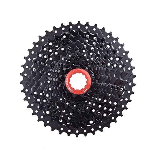 Lijincheng Ruote libere Cassetta MTB 11 velocità 11-42T Ampia Rapporto Nero Compatibile per Shimano M7000 M8000 M9000 Bike Bicycle Parts (Color : 11S 42T Black)