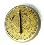 Artshai Gilbert diseño magnético brújula cum buscador de tiempo reloj de sol