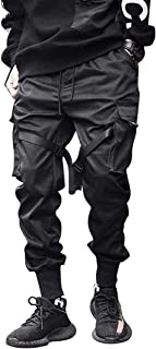 Mens Joggers Pants Long Multi-Pockets Outdoor Fashion Casual Jogging Cool Pant with Drawstring