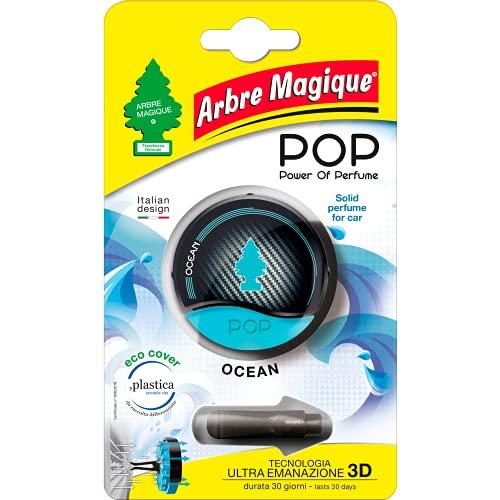 Arbre Magique POP, Profumatore Auto Solido, Fragranza Ocean, Profumazione Delicata e Fresca, Durata Fino a 30 Giorni, Design Italiano, Confezione da 1 Pezzo