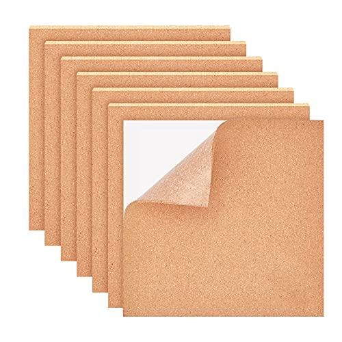 BENECREAT 4PCS Selbstklebende Korkplatten 30x30cm Korkfliesen Korkmatte mit selbstklebender Rückseite für Wanddekoration, Party und Bastelarbeiten, 4mm dick