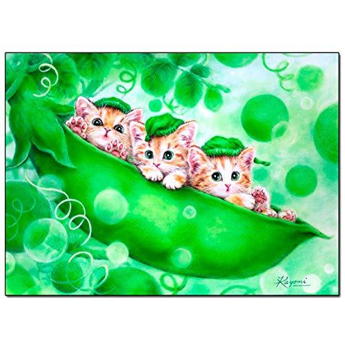 Restaurante decoración pintura nuevo tres vainas gatitos restaurante dormitorio pintura decorativa directo de fábrica una generación @ Cubo Rubik taladro redondo 44 * 34 cm taladro completo