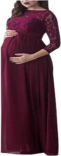 zhxinashu Women Pregnancy Long Maxi Dress-Maternity Clothes Photography Dress