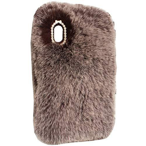 TAITOU - Funda para Sony E5, hecha a mano con forma de cola de bola de lana, cálida y suave, diseño especial ligero y delgado, protección para Sony Xperia E5, color marrón