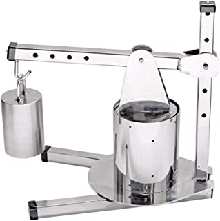 The Sausage Maker - Adjustable Stainless Steel Dutch Style Cheese Press (includes 10 Lb Weight)