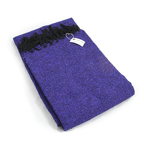 Rolling Sands Premium Solid Color Mexican Yoga Blanket,...