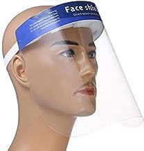 Songdingbin Visi/ères de Protection R/églablepour Le Visage en Plastique /Écrans Faciaux Transparent Chapeau Anti-salive Anti-Gouttes Anti-Poussi/ère Anti-Pollen