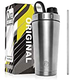 MUSCLE POUND Classic Insulated Stainless Steel Shaker Bottle For Protein Mixes, Double Wall,...