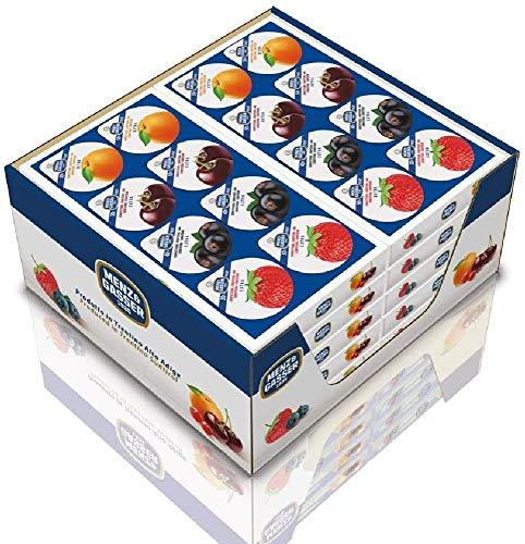 Menz&Gasser Confettura Extra Assortita Albicocca, Amarena, Fragola e Pesca, con Frutta di Alta Qualità, 80 Porzioni x 25 g