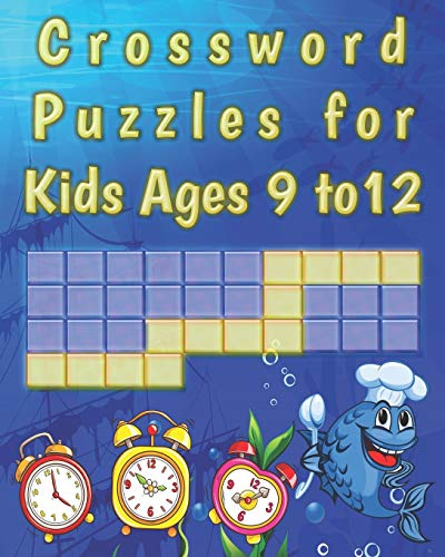 Crossword Puzzles for kids ages 9 to 12: kids Activity work Book Picture Crossword Puzzles book for super kids
