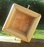 Cedar Wood 4x4 Post Mount for Bird Feeders or Bird House, TBNUP 1S