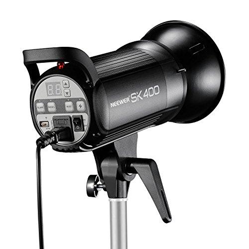 Neewer 400W 5600K Bowens Mount Photo Studio Strobe Flash Light Monolight with Lamp Head for Studio,Location and Portrait Photography (SK400)